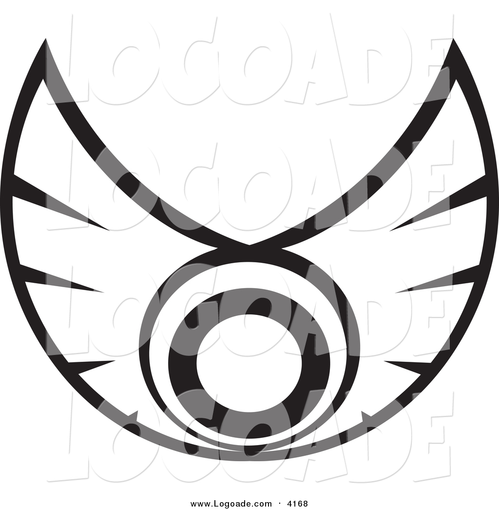 clipart of a black and white wings logo by vector tradition sm 4168 rh logoade com wing logistics llc wing logo designs