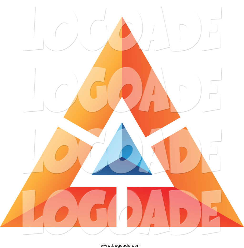 Blue Pyramid Logo And Orange Pyramid Logo