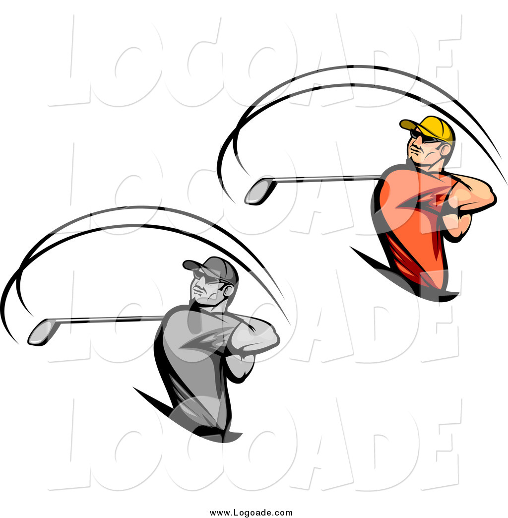 Golf Swing Logo Swinging Golfer Logos