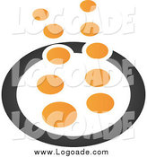Clipart of a Abstract Black and Orange Bubble Logo by Qiun