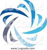 Clipart of a Abstract Blue Star Logo by Elena