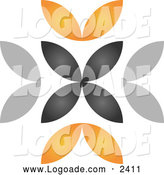 Clipart of a Black and Orange Logo by Qiun