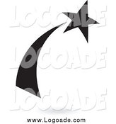 Clipart of a Black Shooting Star Logo by Cidepix