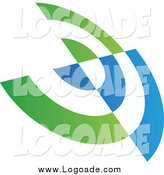 Clipart of a Blue and Green Abstract Target Circle Logo by Cidepix