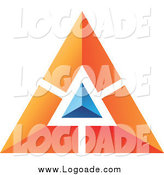 Clipart of a Blue and Orange Pyramid Logo by Cidepix