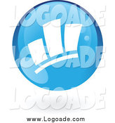 Clipart of a Blue Bar Graph Statistics Logo by Cidepix