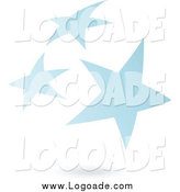 Clipart of a Blue Star Cluster and Shadow Logo by Cidepix