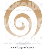 Clipart of a Brown Spiral Galaxy Logo Icon by Cidepix