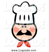 Clipart of a Chef Wearing a Hat by Hit Toon