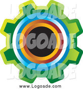 Clipart of a Colorful Gear Cog Design Logo by Lal Perera