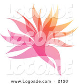 Clipart of a Colorful Gradient Leaf Overlay Logo by Elena
