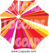 Clipart of a Colorful Parasol Logo by Eugene
