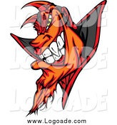 Clipart of a Devil Face Logo by Chromaco