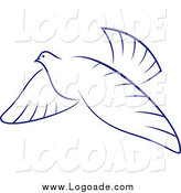 Clipart of a Flying Dove Logo by Vector Tradition SM