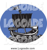 February 11th, 2014: Clipart of a Galleon Ship Logo by Patrimonio