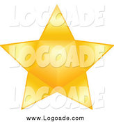 Clipart of a Gold Star Logo by Yayayoyo
