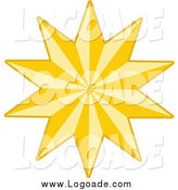 Clipart of a Golden Logo Star by KJ Pargeter