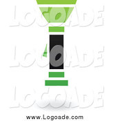 Clipart of a Green and Black Flashlight Logo by Cidepix