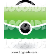 Clipart of a Green and Black Shoulder Bag Logo by Cidepix