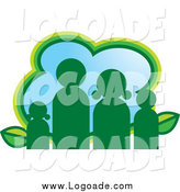 Clipart of a Green Eco Family Logo by Lal Perera