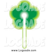 Clipart of a Green Flower Logo by Lal Perera