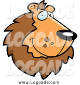 February 19th, 2014: Clipart of a Handsome Smiling Lion Face Logo by Cory Thoman