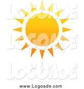 Clipart of a Hot Summer Sun with Reflection Logo by Elena