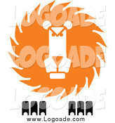 Clipart of a Lion Logo by Vector Tradition SM
