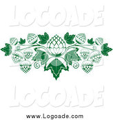 Clipart of a Logo of Green and White Hops and Leaves by Vector Tradition SM