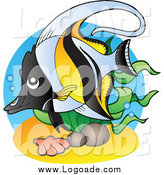 Clipart of a Marine Fish Logo by Visekart