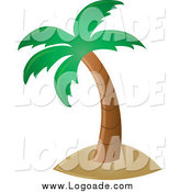 Clipart of a Palm Tree by Pams Clipart