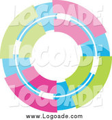 Clipart of a Pastel Colorful Circle Logo by KJ Pargeter