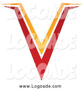 Clipart of a Red and Orange V Logo by Cidepix