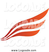 Clipart of a Red and Orange Wing Logo by Cidepix