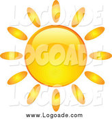 Clipart of a Shiny Summer Sun Logo by KJ Pargeter