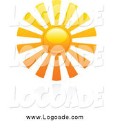 Clipart of a Summer Sun and Reflection by Elena