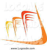 Clipart of a Yellow and Orange Skyscraper Logo by Vector Tradition SM