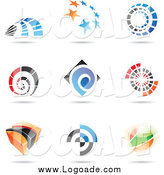 Clipart of Abstract Logos with Shadows by Cidepix