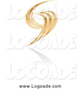Clipart of an Abstract Golden Logo by Alexia Lougiaki