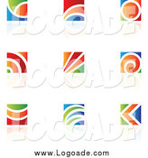 Clipart of Colorful Logos by Cidepix