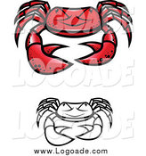 Clipart of Grumpy Crab Logos by Vector Tradition SM