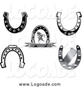 Clipart of Horseshoe Logos by Vector Tradition SM