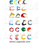 Clipart of Letter C Logos by Vector Tradition SM