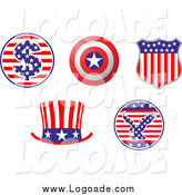 August 15th, 2014: Clipart of Patriotic American Logos by Vector Tradition SM