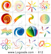Clipart of Rainbow Logos by Dero
