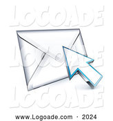 Logo of a 3d Arrow Cursor on an Envelope Logo by Beboy