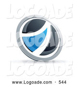 Logo of a 3d Black and Blue Round Button by Beboy