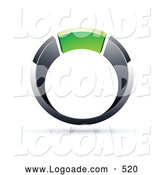 Logo of a 3d Chrome and Green Ring by Beboy
