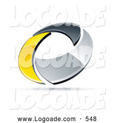 Logo of a 3d Chrome and Yellow Circling Ring by Beboy
