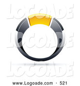 Logo of a 3d Chrome and Yellow Ring by Beboy